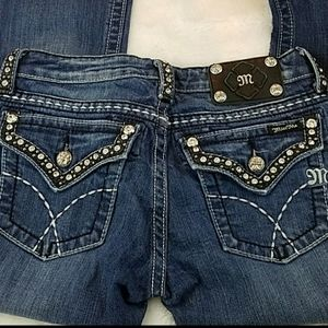 Miss Me jeans size 27 bootcut, inseam is 34 inches